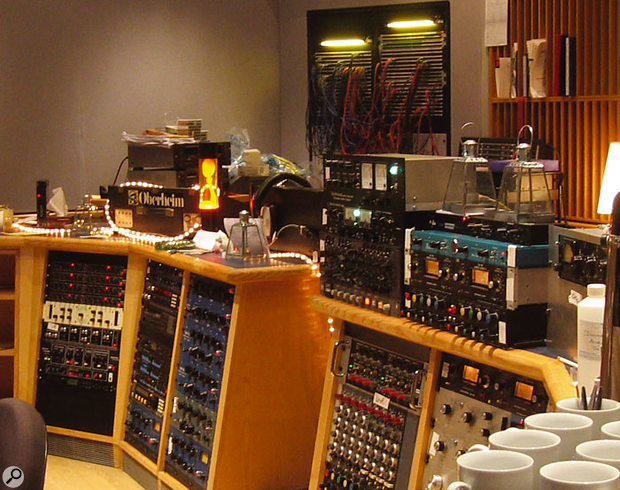 For the mixing sessions, Liam Howlett augmented Whitfield Street Studios' own impressive selection of equipment with another Mackie desk, and also brought some vintage valve gear out of their store room (as can be seen on top of the right-hand rack).