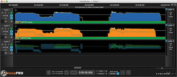 Revoice Pro and its associated AudioSuite plug–in within Pro Tools.