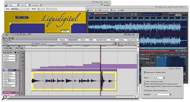 You don't always need Live or Melodyne to make your audio elastic — DP can do it too.