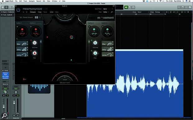 For more complex rhythmic effects, Output's Movement plug-in (or, if you use Logic Pro, the bundled Step FX) can modulate multiple effects, with everything locked to your song tempo.