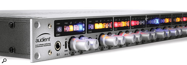 If you use an external A-D converter such as the Audient ASP880 (pictured) then it usually, though not always, makes sense to set it rather than your audio interface to be the clock master.