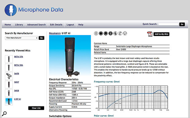 The microphone-data.com web site: a  really useful free resource for comparing mic models from different manufacturers.