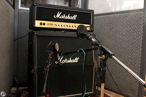 While it's not unknown to record electric guitars in stereo, it's more common to use two (or more) mics to deliver different tonal contributions — and while panning them apart may seem seductive, you must keep an eye/ear open for phase-cancellation when summing to mono.