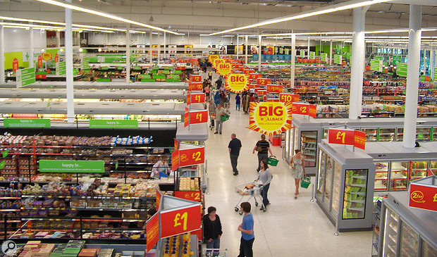 When recording ambience in privately owned spaces such as supermarkets, bear in mind that technically you'll need permission from the property owner to record there — and they will often deny it.