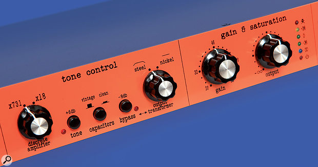 Warm Audio's Tone Beast TB12 is designed to add colour, in part by driving the output transformer — so you'll get different results by hooking up acompressor to the unit's insert point compared with connecting it to the Tonebeast'soutputs.