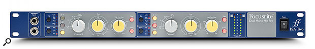 Most analogue 'peak meters', including those on the Focusrite ISA Two, shown here, are actually 'quasi-peak' meters, which display an average value, but with a much faster integration time than you'd find on RMS meters. So their indication of signal levels with real sources will not be the same as on sample-peak meters in a DAW.