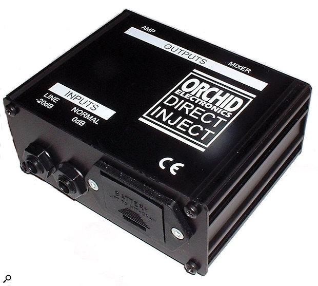 The Orchid Classic DI can be powered by batteries but using 48V phantom power will reduce the chances of clipping.