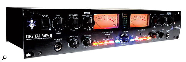 The dual-channel ART Digital Pro VLA II mic preamp has an on-board A-D converter that caters for both RCA and optical forms of S/PDIF, as well as the AES3 format.