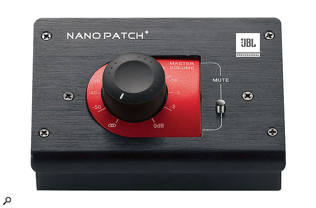 Not just a monitor controller: if you have a device like Warm Audio's EQP-WA, which adds gain even with no EQ applied, you can compensate for this using a passive attenuator such as the JBL Nanopatch+.