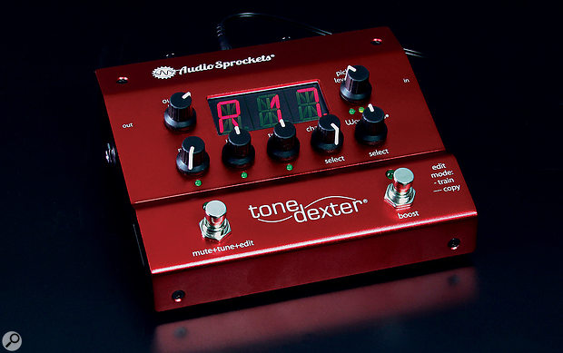 Audio Sprockets' clever ToneDexter processor aims to let you enjoy your favourite miked acoustic guitar sound without the inconvenience of actually miking it!