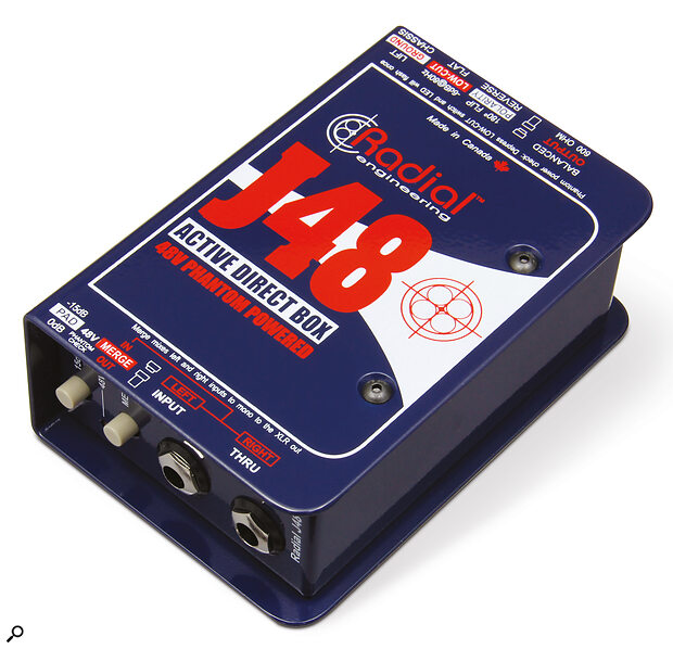 All you need to split aguitar signal for recording is ahumble DI box!