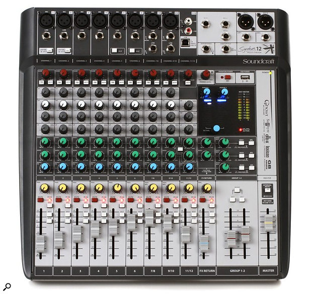 Many budget mixers like this Soundcraft model are designed with polarity-inverted aux sends —  but why?