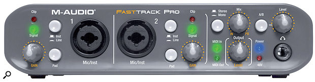 Just where should you set the gain knob on your audio interface if you're also using an external mic preamp? First, tweak your external preamp settings to achieve the desired sound and a healthy level, and then use the interface's gain control to set the right level running into your DAW.