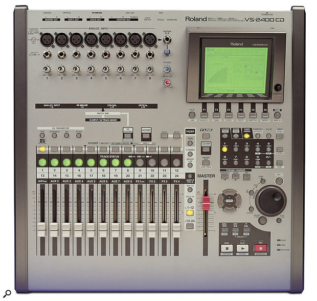 The Roland VS2400CD's flexible routing system can seem complicated at first.