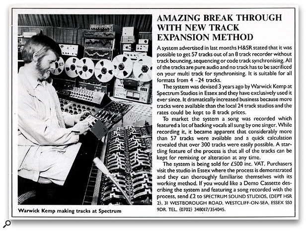 An original advert for the Track Expansion Method which appeared in the May 1988 issue of Home & Studio Recording.
