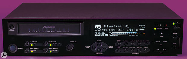 The Alesis ML9600 Mastering CD Recorder is primarily designed as a mixdown, mastering and CD-burning solution for multitrackers, DATs and hard disk recorders.
