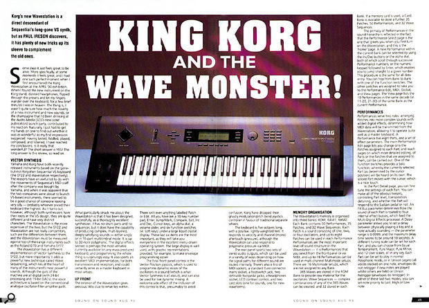 Korg's landmark Wavestation synth, as seen in the original review from SOS August 1990.
