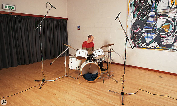 It's possible to make perfectly good drum kit recordings using just a spaced pair of overhead mics.