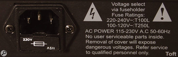 A universal power supply, typically marked '110V-240V', can deal with any voltage in the stated range.
