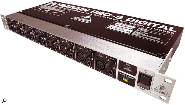 Behringer's ADA8000 — eight channels of mic preamplification and A-D/D-A conversion, all at a remarkable price.