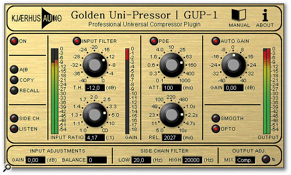 Kjaerhus Audio's Golden Unipressor allows the use of side-chain inputs in Cubase SX.