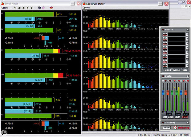 Steinberg Wavelab's real-time audio analyser can help to give a clearer picture of the frequency content of a mix.