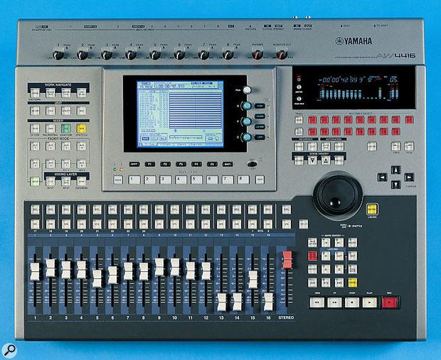 Yamaha's AW4416 can sync external MIDI gear via MIDI Clock or MTC.