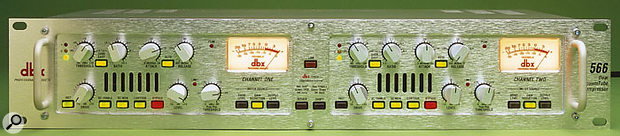 If you're looking for an 'external analogue compressor with a reputation for attitude', you could do worse than the Dbx 566 dual-channel valve compressor.