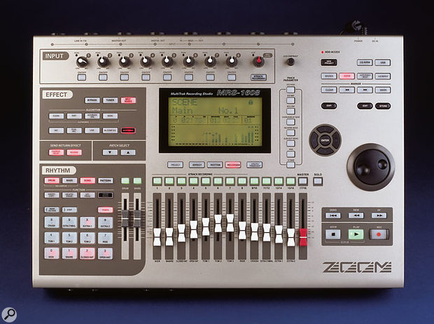 The Zoom MRS1608's dedicated drum pads set it apart from other similarly priced multitrackers.