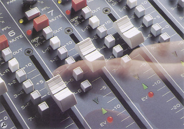 PFL button on a mixer.
