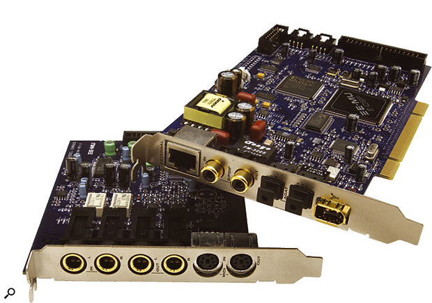 The Emu 1212M soundcard provides a range of sync'ing options.