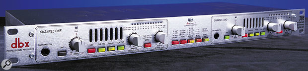 The Dbx 386 hybrid valve/solid-state preamp features the Dbx Type IV A-D converter, supposedly impossible to clip...