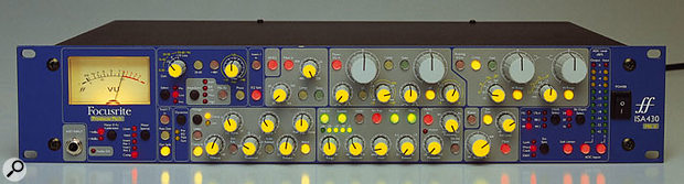The Focusrite ISA430 MkII can be linked to a second unit for stereo compression.