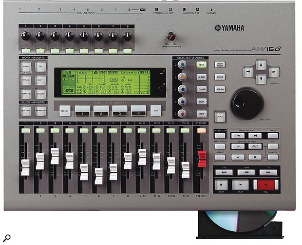 When sync'ing external MIDI gear, the Yamaha AW16G can act as the MIDI Clock master but not as the slave.
