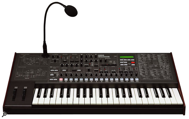 Korg's analogue-modelling MS2000B synth is more flexible than the vintage MS20 (top) and still offers plenty of 'tweakability'... but is it as desirable?