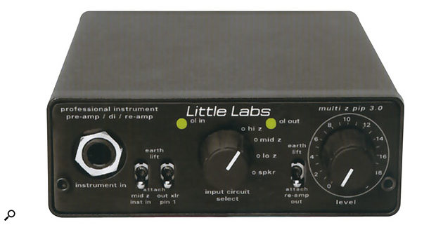 The Little Labs Multi Z PIP adjusts level and impedance and is a handy tool for re-amping.