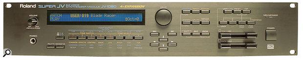 Roland JV1080 rack module front panel.