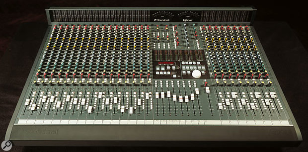 The 24-channel Soundcraft Ghost mixing console, complete with optional meterbridge.