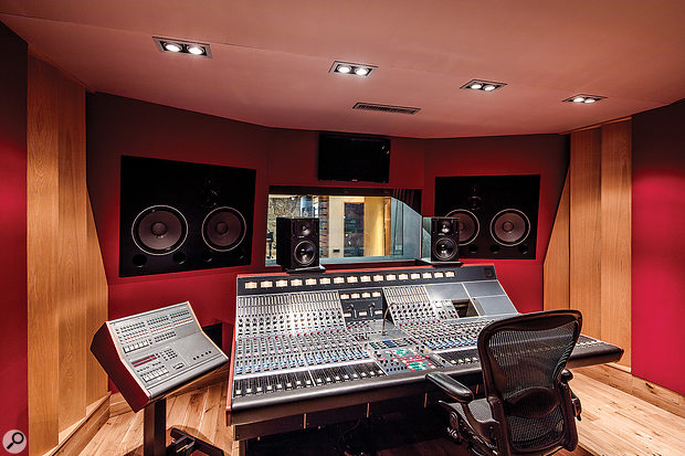 Pride of place in the Studio A control room goes to a magnificent vintage Neve console with an unusual and powerful architecture.