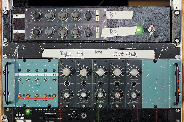 Modules from the discrete Neve consoles of the '70s, like these 2073 EQs and 1272 mic preamps at San Francisco's Hyde Street Studios, will always be desirable.