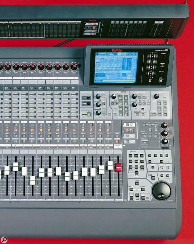 Ramsa DA7 digital mixer - righthand side controls.