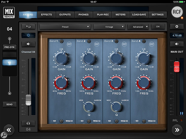 Among the EQ options is this Classic analogue emulation.