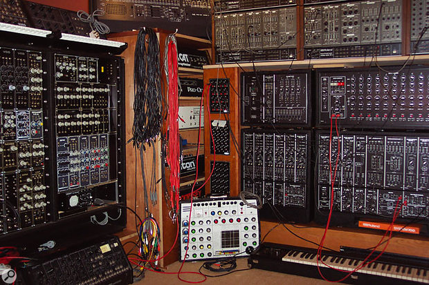 The modular synth area.