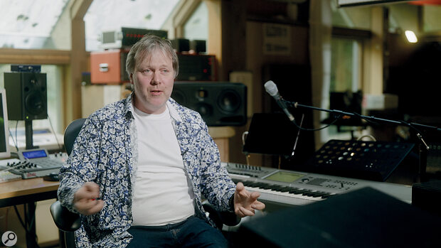 Peter Gabriel's personal engineer Dickie Chappell in the artist's private Writing Room.