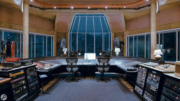 Real World Studios' Big Room, with its massive wraparound custom-built SSL XL 9000K console.