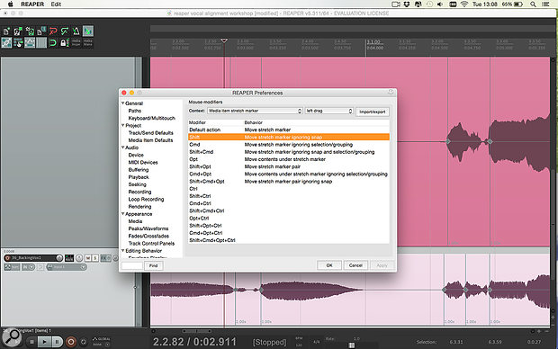 As with everything in Reaper, it's worth checking out what functions can be controlled via the Mouse Modifiers.