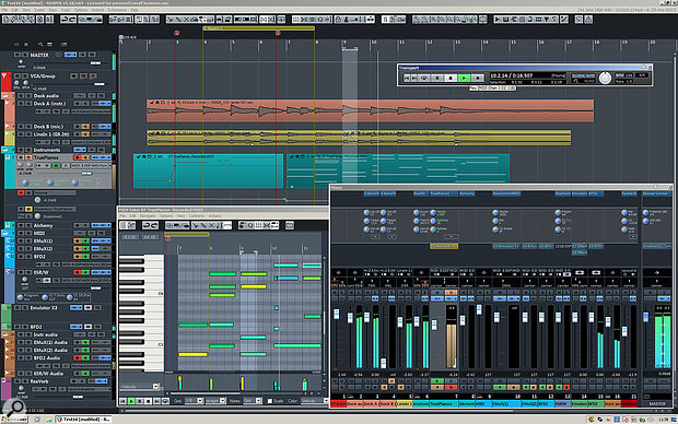 CubicPack: using the theming engine in conjunction with custom toolbars to bring the Reaper user interface much closer to that of the 'target' DAW, Cubase.