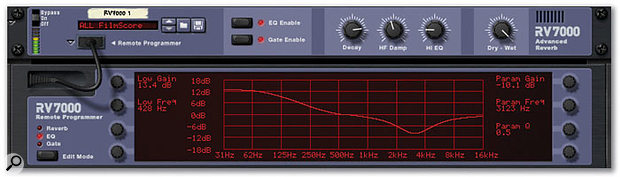 RV7000's EQ response can be edited from this graphical window.