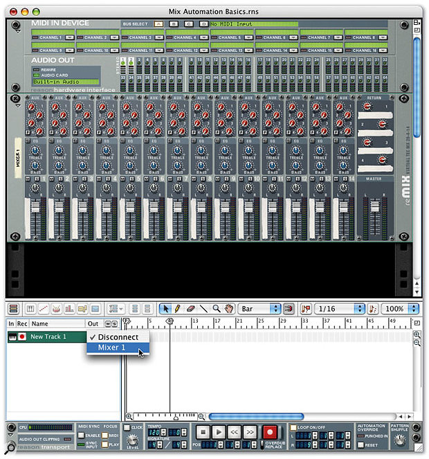 In order to record mixer automation, you need to assign a sequencer track to the mixer.