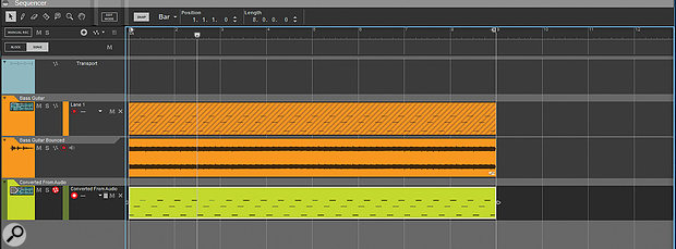 Bouncing from MIDI to audio — and, just for fun, back to MIDI.